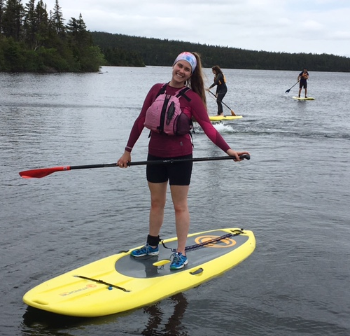Participant on Paddle Board.